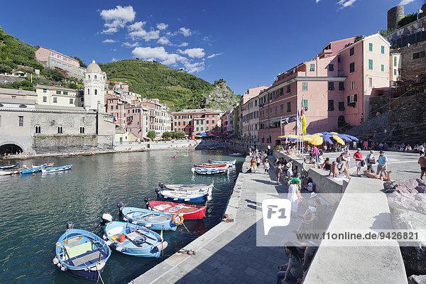 Vernazza  Cinque Terre  Rivera di Levante  Provinz La Spazia  Ligurien  Italien