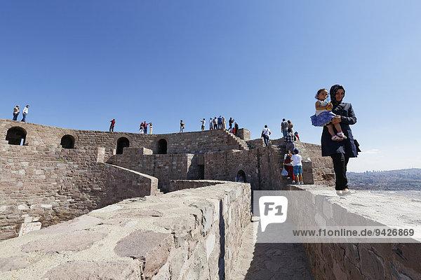 Ankara Kalesi Castle  Ankara  Central Anatolia Region  Anatolia  Turkey