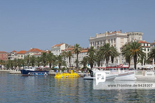 Boote  Split  Dalmatien  Kroatien