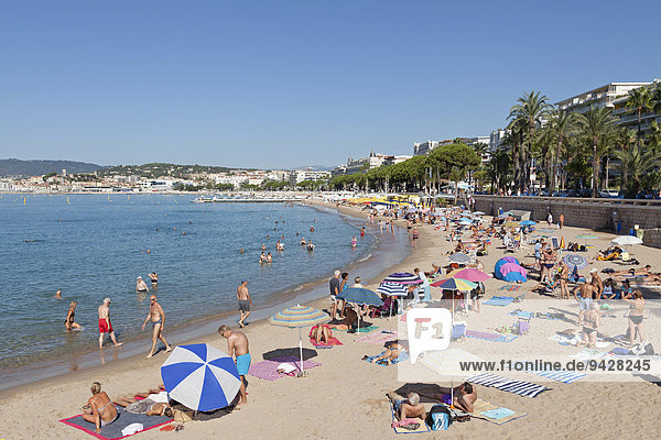'Beach  Cannes  French Riviera  Provence-Alpes-Côte d'Azur  France'