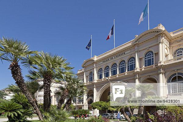 Palais de l'Europe  Menton  Cote d'Azur  Frankreich