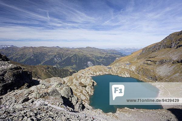 Der Schottensee bei der Fünf-Seen-Tour am Pizol  Bad Ragaz  Heidiland  Schweizer Alpen  Schweiz  Europa  ÖffentlicherGrund