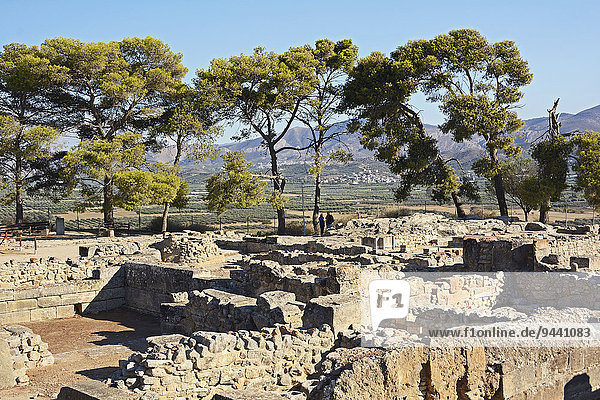 Ruinenstadt von Festos  Kreta  Griechenland