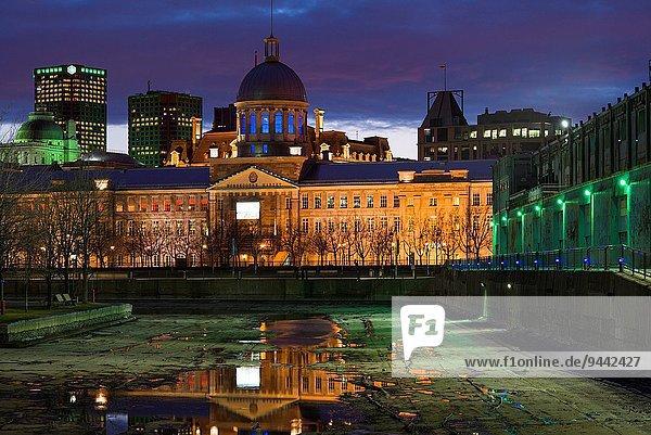 Hafen Kanada Abenddämmerung Montreal Quebec