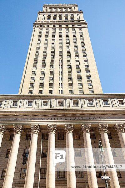 Vereinigte Staaten von Amerika USA New York City Wohnhaus Verbindung Gericht Manhattan