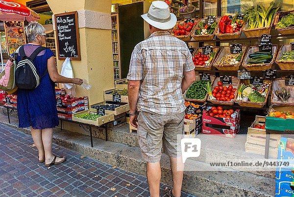nahe Frankreich Lebensmittelladen Küste Tourist Dorf kaufen Laden Perpignan