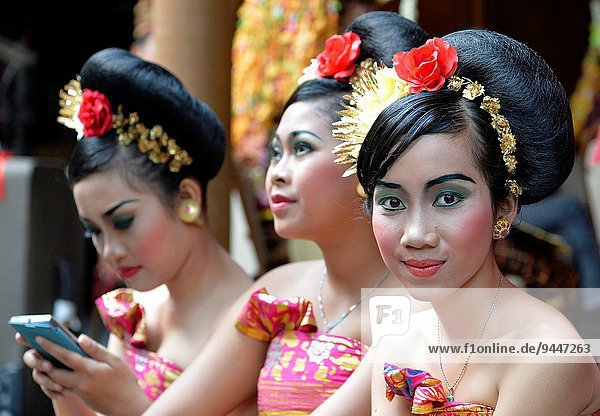 Balineses dancers   Bali  Indonesia  South East Asia.