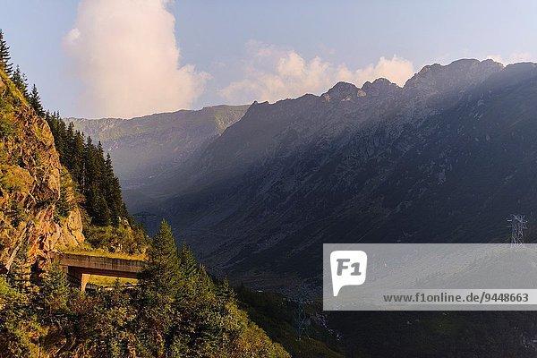 Berg Fernverkehrsstraße Rumänien
