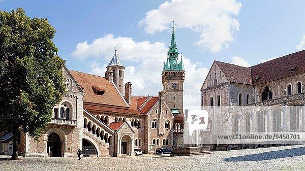 Europa Palast Schloß Schlösser Kathedrale Braunschweig Deutschland Niedersachsen