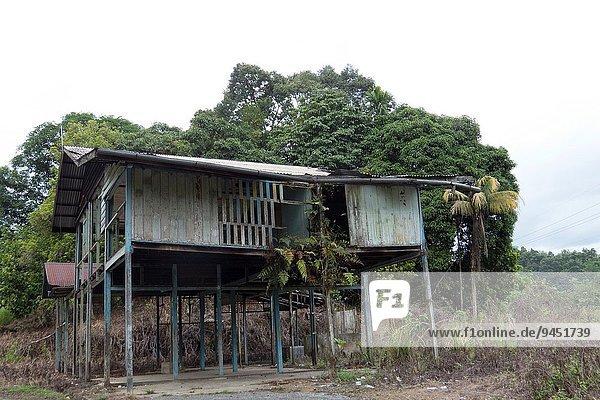 Wohnhaus verlassen Malaysia Sarawak