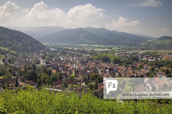 Ortsansicht  Staufen im Breisgau  Schwarzwald  Baden-Württemberg  Deutschland  Europa