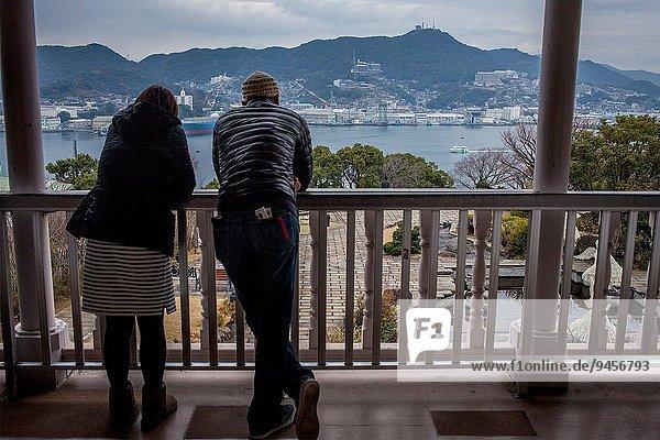 Wohnhaus Tourist Dock Nostalgie Mitsubishi Japan Nagasaki Sekunde