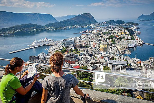 Aussichtspunkt Norwegen Berg Alesund More og Romsdal