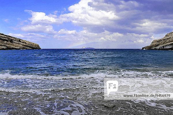 Bucht  Strand von Matala  Matala  Kreta  Griechenland  Europa