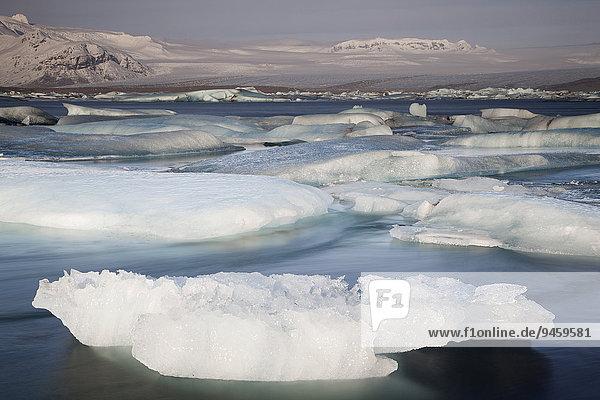 Gletscherlagune Jökulsárlón  Hornafjörður  Austurland  Island  Europa