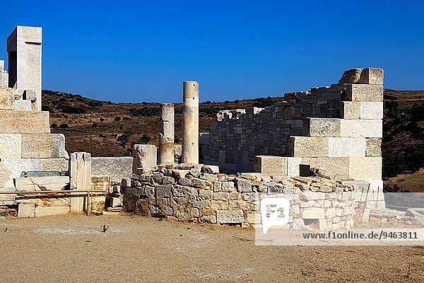 Temle of Demeter near the village of Sangri  Naxos  Cyclades Islands  Greece.