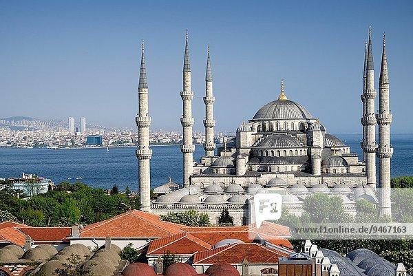 blau Bosporus Istanbul Moschee Türkei
