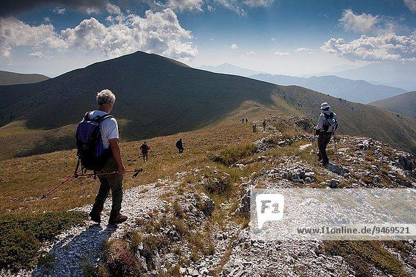 Bergsteiger Berg wandern Mazedonien Griechenland