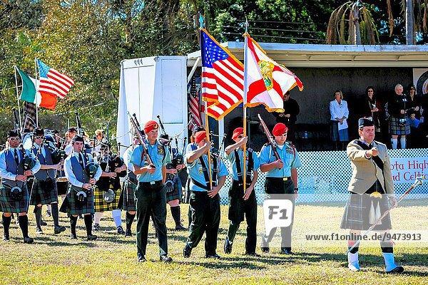ehrbar Eingang führen Spiel Fahne Highlands Florida Wachmann Blei Sarasota schottisch