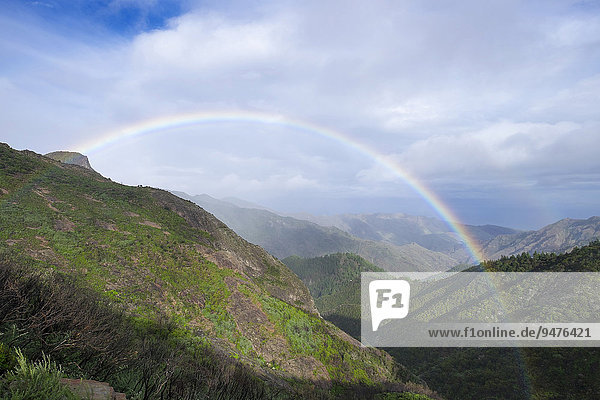Regenbogen  Nationalpark Garajonay  La Gomera  Kanarische Inseln  Spanien  Europa