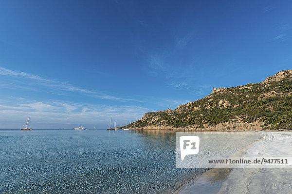 Küste mit Sandstrand  Sartène  Korsika  Frankreich  Europa