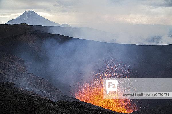 Vulkanausbruch  Vulkan Tolbachik  Kamschatka  Russland  Europa