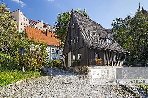 '''Hexenhaus'' an der Fischerpforte  eines der ältesten Häuser der Stadt  Bautzen  Sachsen  Deutschland  Europa'