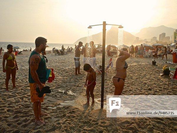 Strand Sonnenuntergang Ipanema