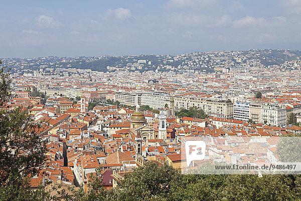 Aussicht vom Schlossberg  Nizza  Département Alpes-Maritimes  Provence-Alpes-Côte d?Azur  Frankreich  Europa