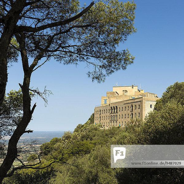 Ermita de Sant Salvador  monastery near Felanitx  Majorca  Balearic Islands  Spain  Europe