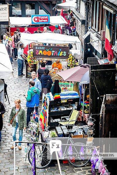 Europa Lebensmittel Großbritannien London Hauptstadt Camden Markt