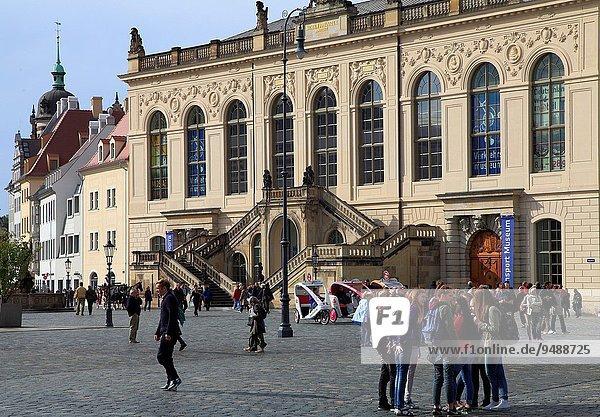Mensch Menschen Dresden Deutschland Sachsen