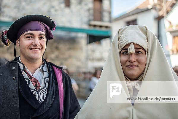44th edition of Ansotano dressing Day at Ansó Village  Festivity of National Tourist Interest. Huesca Pyrenees  Aragón  Spain.