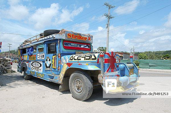 Jeepney Bus  Bohol  Philippinen  Asien