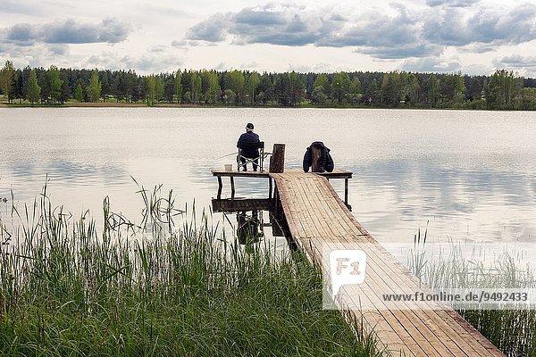 Forest lake  Vitebsk region  Belarus.