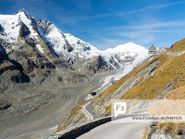hoch oben gebraucht Europa Attraktivität Fernverkehrsstraße Berg Tourist Alpen 1 Großglockner Österreich österreichisch Mitteleuropa September