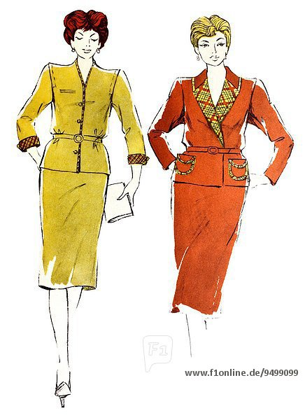 Retro Zeitschrift Mädchen siebziger Jahre Mode