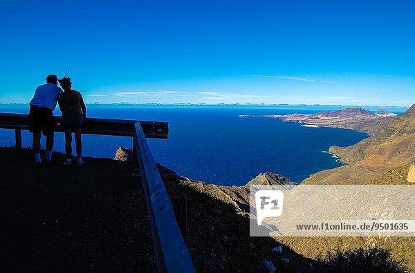 Panorama Freundschaft Küste Insel Nachdenklichkeit Ansicht Großmutter Agaete