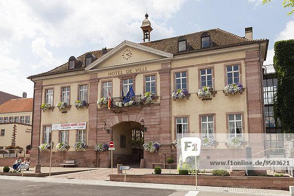 Rathaus Hotel de Ville  Riquewihr  Elsass  Frankreich  Europa