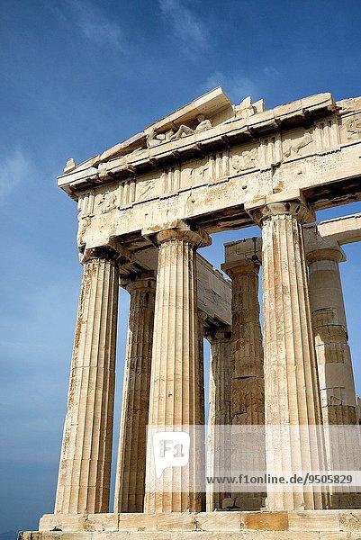 Athen Hauptstadt hoch oben schreiben UNESCO-Welterbe Akropolis Attika Griechenland Parthenon