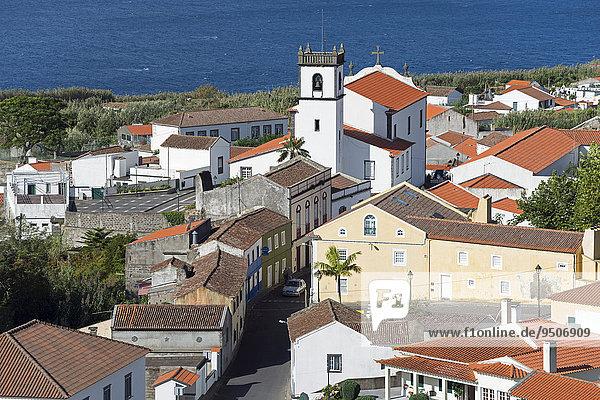 View of Feteiras  Sao Miguel  Azores  Portugal  Europe