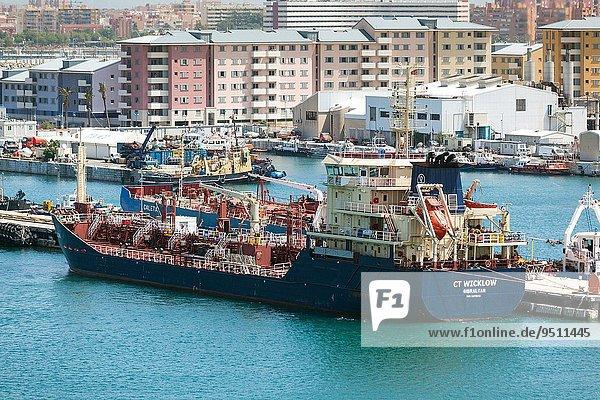Öltanker Hafen beschäftigt Gibraltar