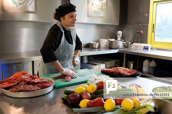 kochen Frankreich nehmen Angebot französisch Tradition Reise begrenzen Restaurant Essgeschirr groß großes großer große großen Gänsestopfleber sortieren mögen Kutteln Schnecke Gastropoda verlassen Büfett Katalonien Narbonne