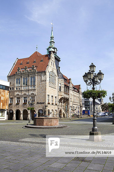 Market Square and Town Hall  Bückeburg  Lower Saxony  Germany  Europe