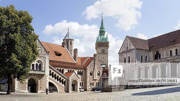 Burg Dankwarderode und Dom St. Blasius  Braunschweig  Niedersachsen  Deutschland  Europa