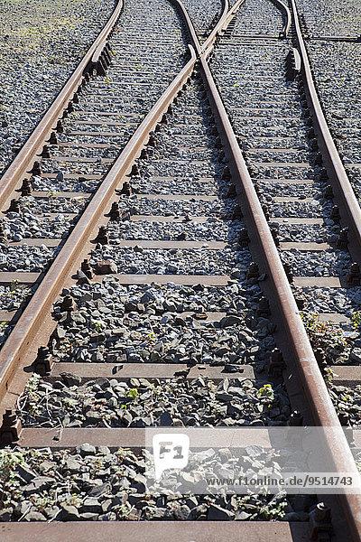 Old railway tracks  Germany  Europe