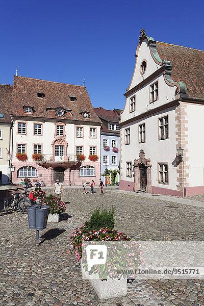 Marktplatz und Rathaus  Endingen  Kaiserstuhl  Schwarzwald  Baden-Württemberg  Deutschland  Europa
