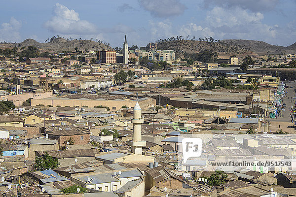 Stadtansicht Asmara  Eritrea  Afrika