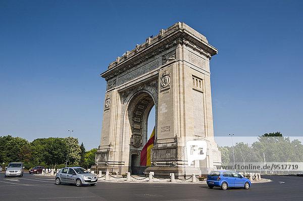 Arcul de Triumf  Triumphbogen  Bukarest  Rumänien  Europa