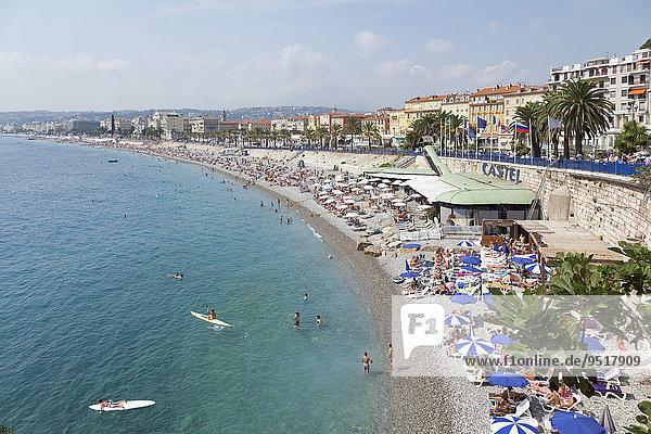 'Beach  Nice  Alpes-Maritimes department  Provence-Alpes-Côte d'Azur  France  Europe'